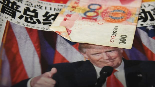 US Treasury Labels China a Currency Manipulator; Dow Futures Resume Plunge