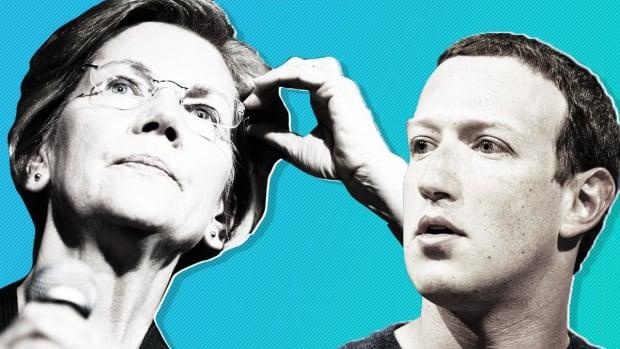 Zuckerberg Squares Off Against Warren, Says He'd Sue if Facebook Were Broken Up
