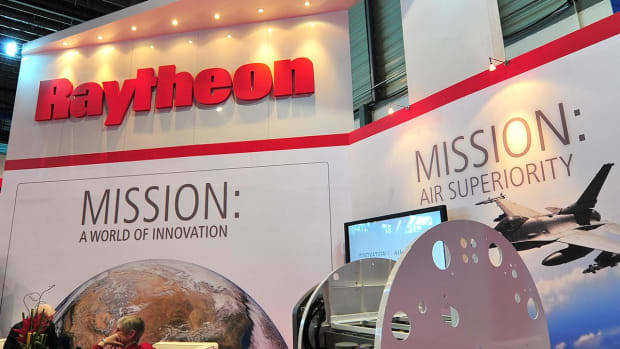 Raytheon Stock Higher Amid J.P. Morgan Upgrade to Overweight, Global Instability