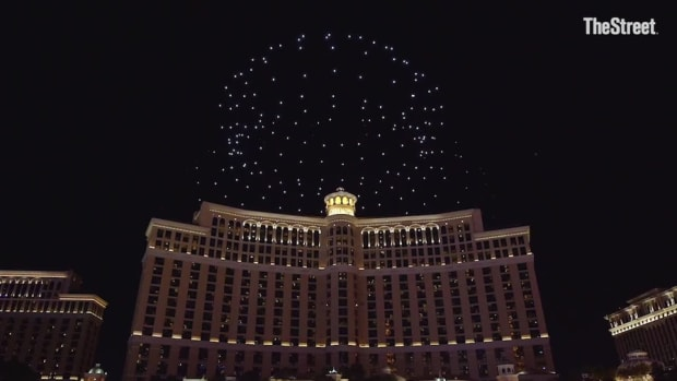 Intel Lit Up Vegas With A Drone Light Show