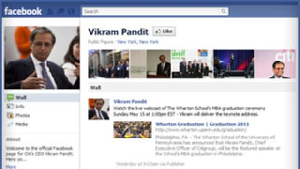 Citigroup's Pandit Wants You to 'Like' Him