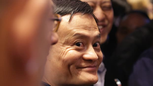 Watch Jack Ma's Face Shortly Before Alibaba Opened for Trading