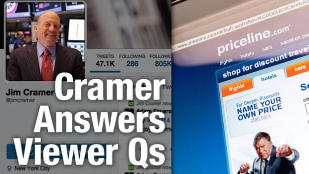 Jim Cramer Sees a Deal on Priceline Stock, Likes Weyerhaeuser