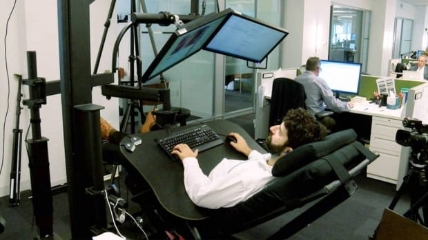 What It's Like Working in a $5,000 Bed-Desk