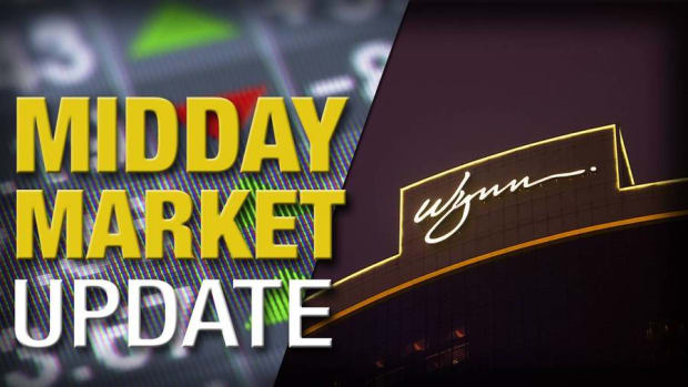 Midday Report: Wynn Suffers Sales Slump; Stocks Inch Higher