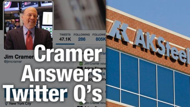 Cramer: AK Steel Is a Casualty of the Euro, Celgene Is Not a Sell