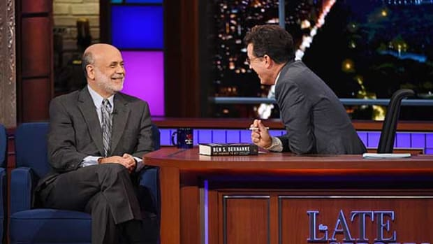 Stephen Colbert Talks Economics With Ben Bernanke -- and Millions Love It