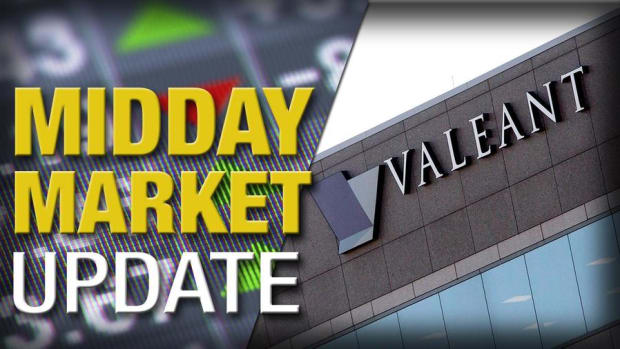 Midday Report: Valeant Spikes on C-Suite Shakeup; U.S. Stocks Stall