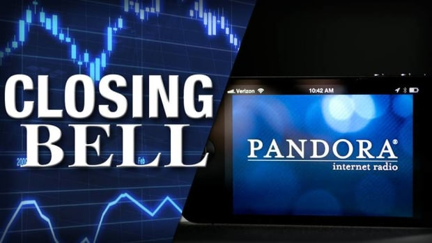 Closing Bell: Pandora Jumps on Deal Reports; Stocks Half Losses
