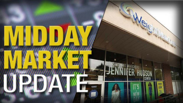 Midday Report: Weight Watchers Sees New Year's Boost; Stocks Slip