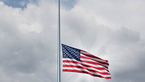 5. Lowering a Flag on Memorial Day