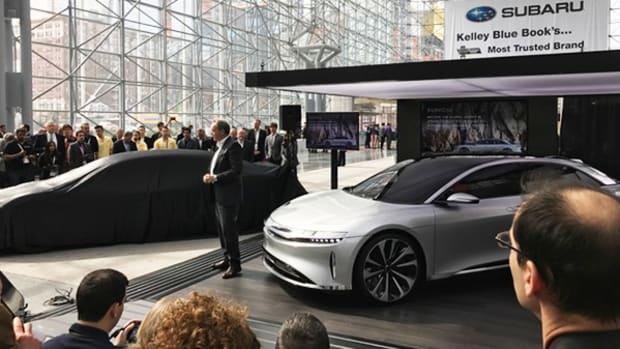 Tesla Clone Lucid Motors Unveils EV Prototype as It Searches for Capital
