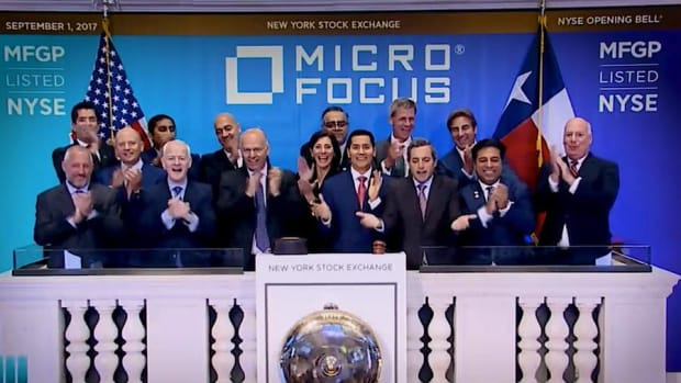 Micro Focus Celebrates Merger with HPE by Ringing the Opening Bell