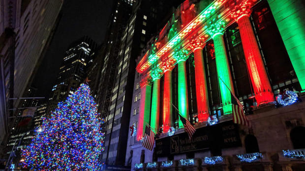 Wall Street Stock Market Christmas