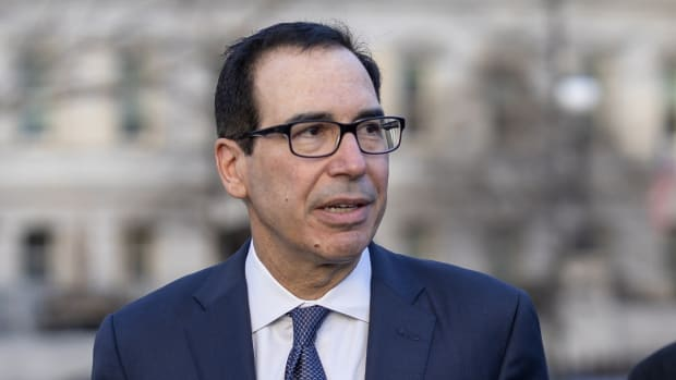 US Treasury Secretary Steven Mnuchin outside the White House ahead of the deal's signing on Wednesday. Photo: EPA-EFE