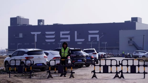 Tesla's Gigafactory in Shanghai on December 2, 2019. Photo: Reuters