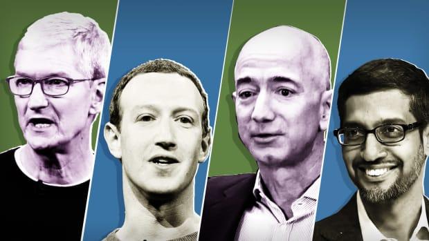 Tim Cook Mark Zuckerberg Jeff Bezos Sundar Pichai Lead
