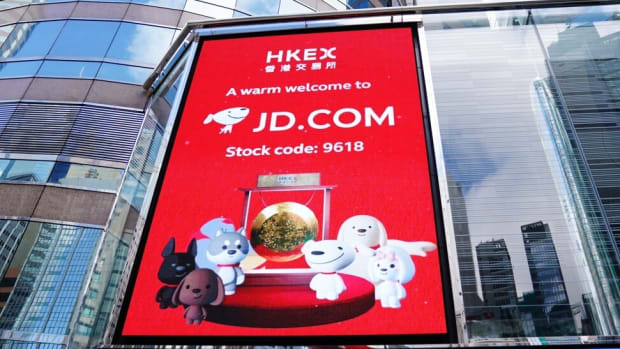 US-listed Chinese technology companies, including JD.com, are raising capital via secondary listings in Hong Kong. Photo: Xinhua
