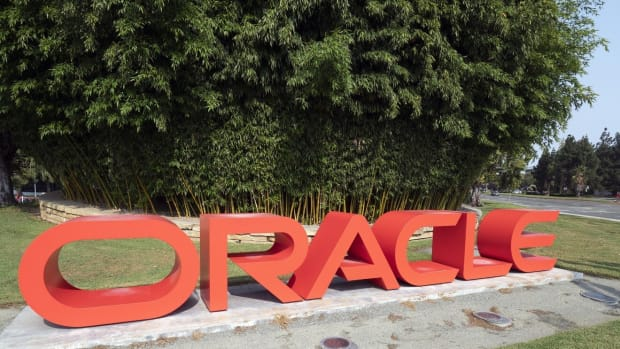 Oracle signage in front of the company headquarters in Redwood City, California. Photo: EPA-EFE