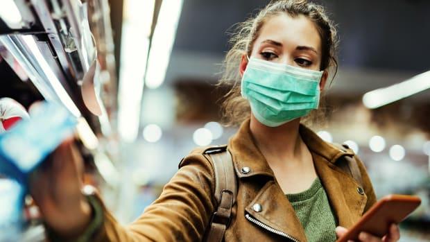 Masks Blocking Coronavirus Spread