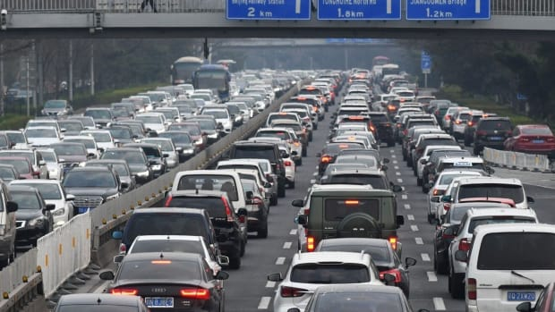 China's car sales grew 11.6 per cent in August to 2.2 million. Photo: AFP