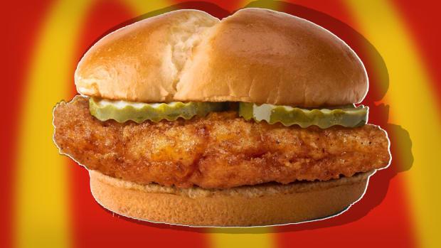McDonald's crispy chicken sandwich Lead