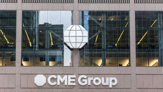 Photo of CME Group building in Chicago.