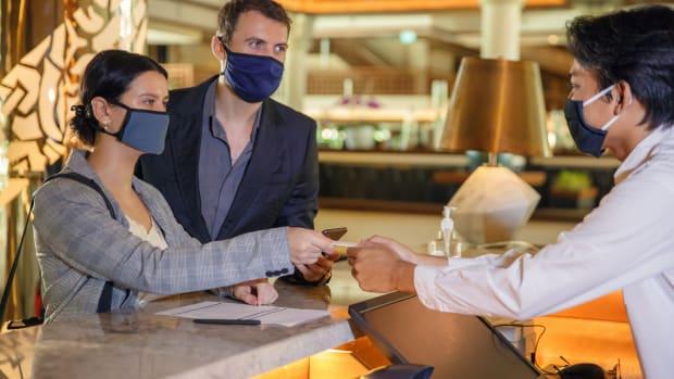 hotel desk masks sh