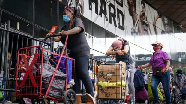 Americas' financial desperation can be seen in the soaring demand for food assistance.