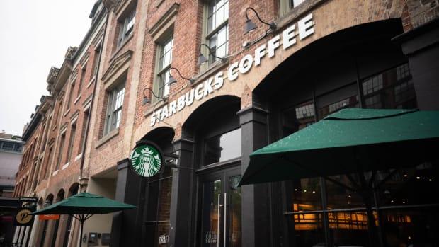 Exterior of a Starbucks cafe