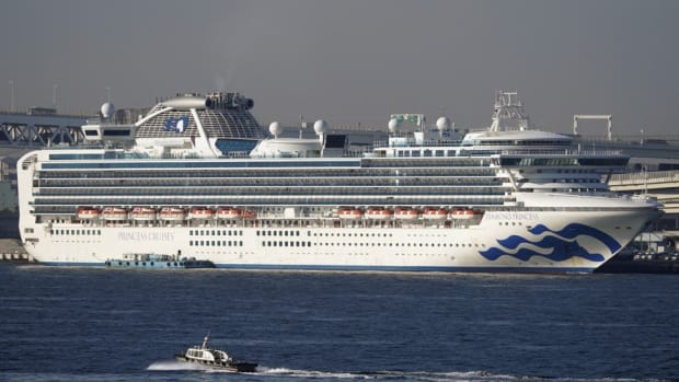 The Diamond Princess cruise ship at the Daikoku Pier Cruise Terminal in Yokohama on February 13, 2020. Photo: EPA-EFE