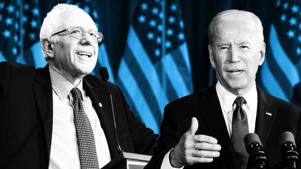 Sanders Biden Democratic Candidates Lead