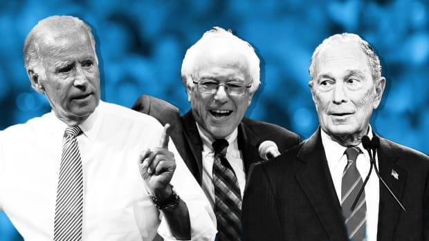 Democratic Candidates Biden Sanders Bloomberg Lead