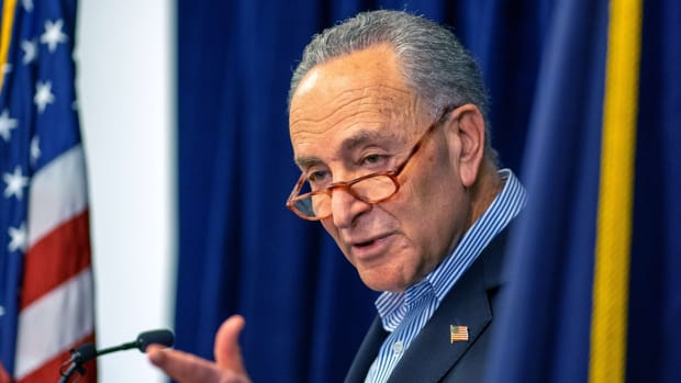 US Senator Charles Schumer is the top Democrat in the US Senate controlled by Republicans. Democrats and Republicans have been at odds over an anti-virus package that has been valued between US$1.8 trillion to US$2.5 trillion. Photo: AFP