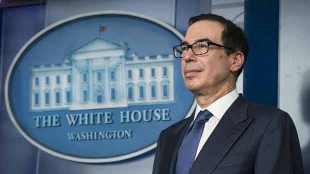 US Treasury Secretary Steven Mnuchin said the 3.28 million jobless claims filed last week did not reflect the impact of the US$2 trillion stimulus package. Photo: UPI via Bloomberg