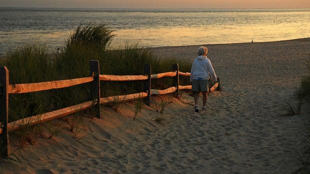 retire, beach, woman