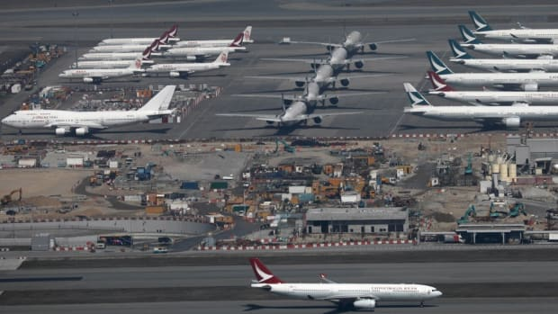 Hong Kong International Airport is foregoing fees for grounded aircraft. Photo: Sam Tsang