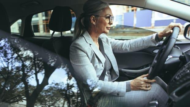 drive car road woman commute sh
