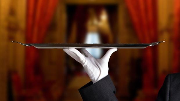 butler service tray waiter sh