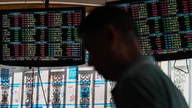 China Stocks Fall On Slowdown Jitters While Hong Kong Markets Are Shut On Typhoon Kompasu Warning