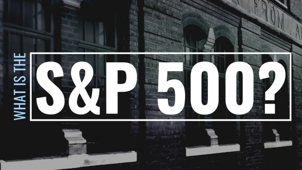 """Darkened photo of an old building with text overlay that reads """"What Is the S&P 500?"""""""
