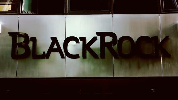 BlackRock sign at building.
