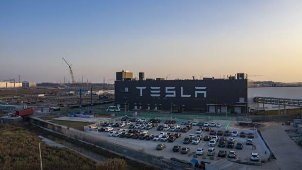 Tesla's Gigafactory 3 in Shanghai on Friday, Dec. 25, 2020. Photo: Bloomberg