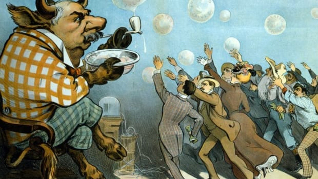 Financial bubbles are frequently depicted as manias. Photo12/Universal Images Group via Getty Images