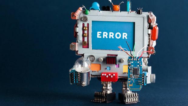 error robot computer mistake sh