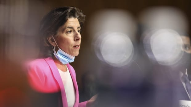 Commerce Secretary Gina Raimondo in Washington on April 20. Photo: CNP via ZUMA Wire/TNS