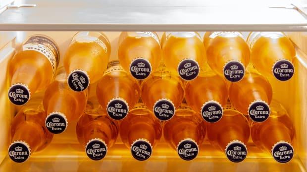 corona refrigerator beer sh