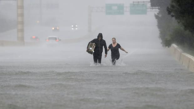 Hurricane Harvey dumped an unheard-of 60 inches of rain in parts of Texas in 2017. AP Photo/David J. Phillip