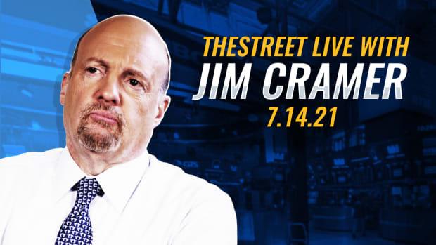 Watch Jim Cramer on TheStreet Live 7/14/21