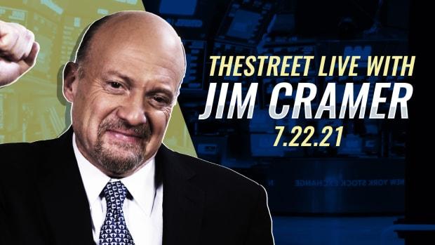 Watch Jim Cramer on TheStreet Live 7/22/21